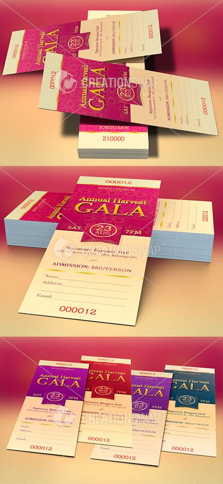Church Banquet Ticket Template 47393