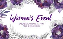 Women's Event PSD with Fonts