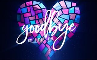 Valentines Window Goodbye