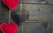 Plaid Fabric Heart