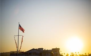 Sunset and a Flag