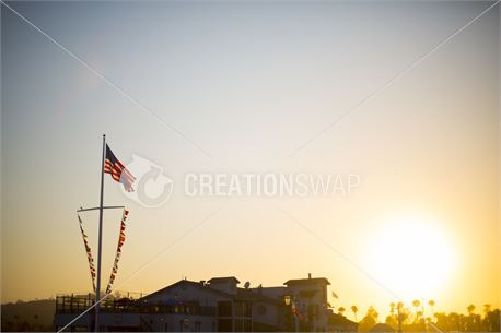 Sunset and a Flag (47830)