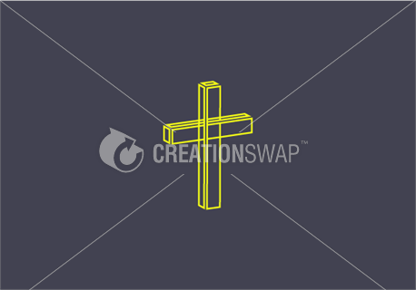 Lined cross (47858)