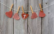 Hanging Hearts with Cross