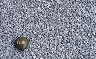 Faith on gravel
