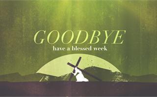 Good Friday Cross Goodbye