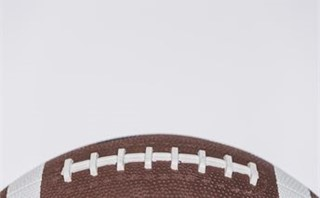 Close-up of a leather football