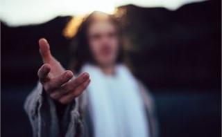 Jesus reaching