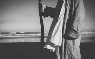 Jesus with shephards staff