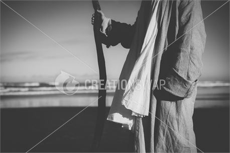 Jesus with shephards staff (48786)