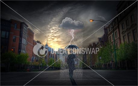 Man in Rain (48911)