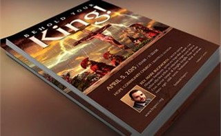 Crucified King Flyer Template