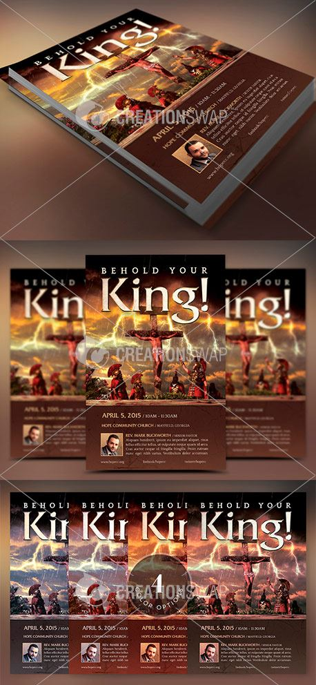 Crucified King Flyer Template (49050)