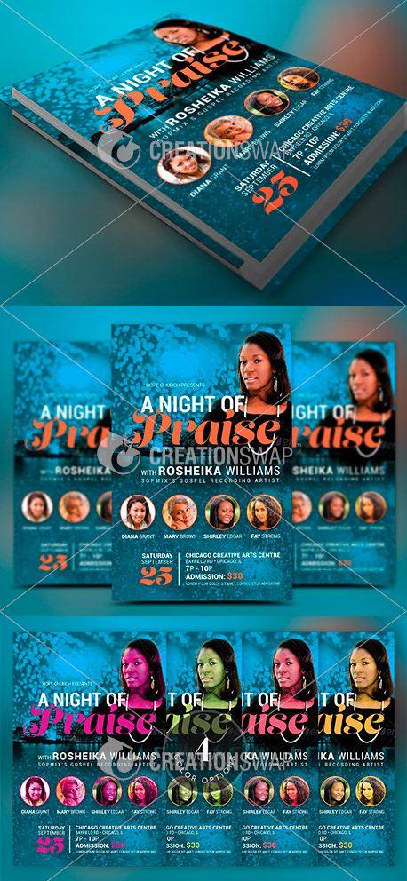 Worship Concert Church Flyer 49258