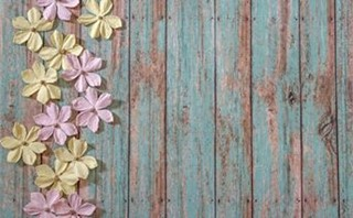 Paper Flowers on Wood