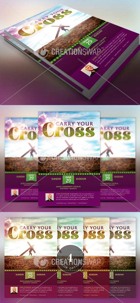 Carry Cross Flyer Template (50815)