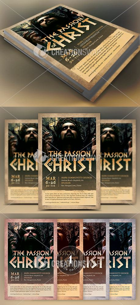 Passion Easter Flyer Template (50816)