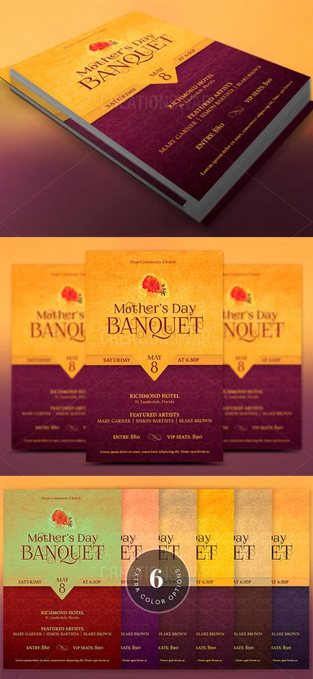 Mothers Day Banquet Flyer (51591)