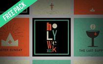 Holy Week Social Graphics