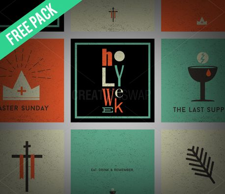 Holy Week Social Graphics (51667)