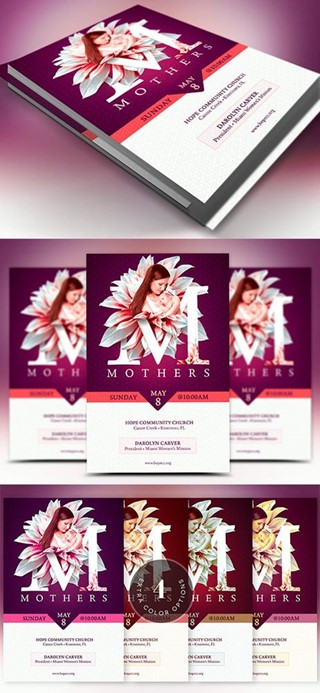 Mothers Day Church Flyer