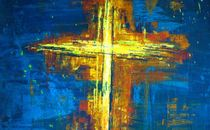Colorful Cross Painting
