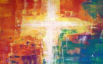 Colorful Abstract Cross Painti