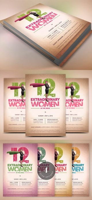 Bible Women Flyer Template