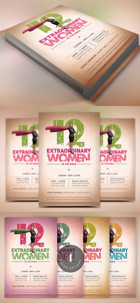Bible Women Flyer Template (52022)