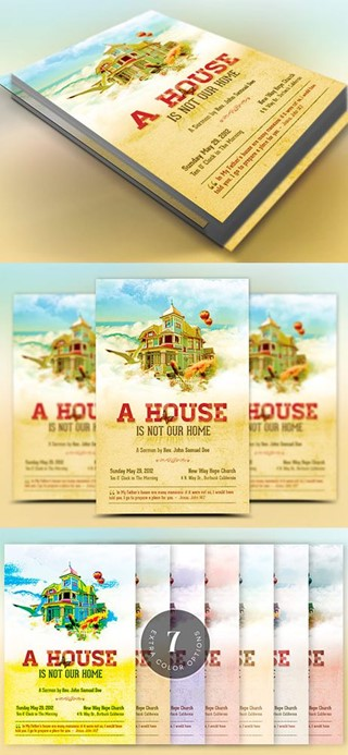Home Church Flyer Template
