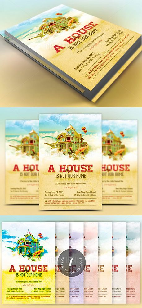 Home Church Flyer Template (52058)