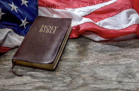 Holy Bible with US Flag (52335)