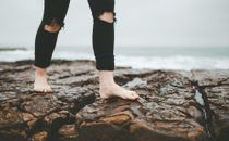 Feet on the rocks