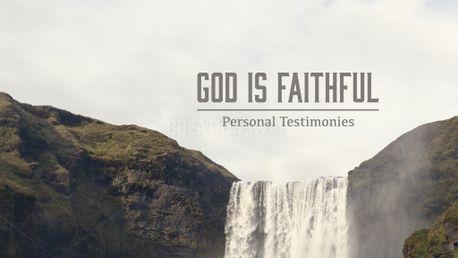God Is Faithful (53302)