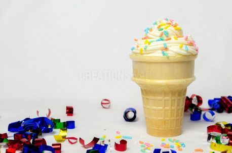 Soft Serve Ice Cream Cone (53993)