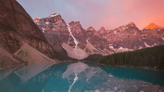 Subtle Mountain Range and Lake