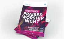 Praise & Worship Night Flyer