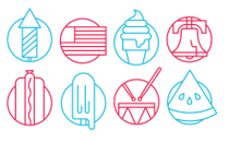 Summer Vector Icon Set