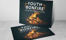 Youth Bonfire Postcard