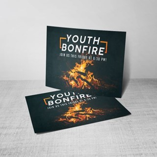 Youth Bonfire Postcard