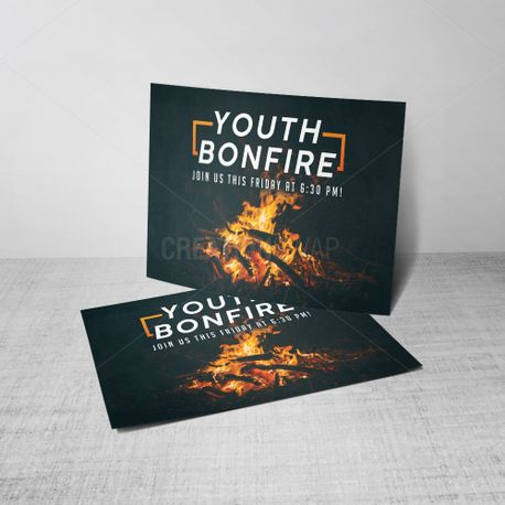 Youth Bonfire Postcard (55536)