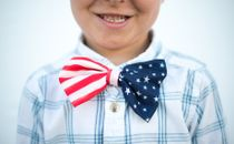 Child with American bow tie