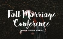 Fall Marriage Conference