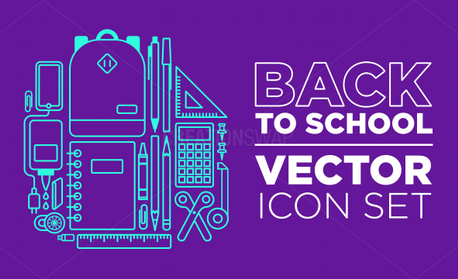Back to School Vector Icon Set (56350)