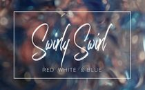 Swirly Swirl - Red White Blue