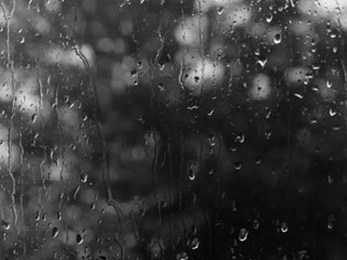 Black And White Rain Drops