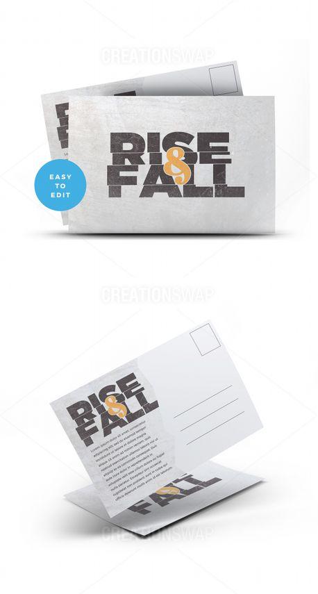 Rise & Fall Postcard (57195)