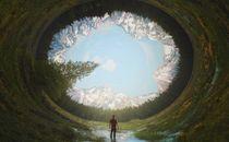 Surreal round landscape