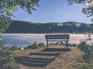 Bench Shadow at the Lake
