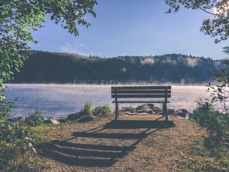 Bench Shadow at the Lake (57307)